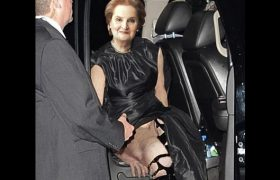 Madeleine Albright Accidentally Flashes Vagina During Wild Night Out