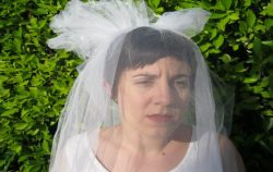 short haired bride