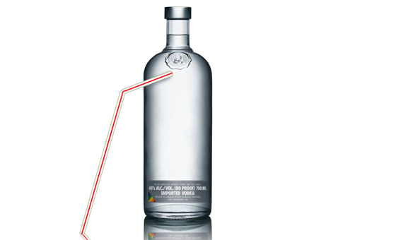 CC-vodka bottle straw