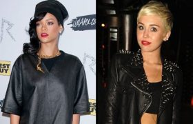 Miley Cyrus Copies Rihanna with Song About Chris Brown
