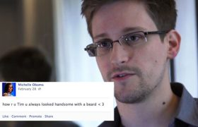 Edward Snowden Leaks Michelle Obama's Facebook Account