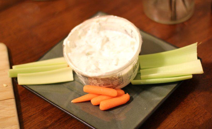 dip snack celery carrot