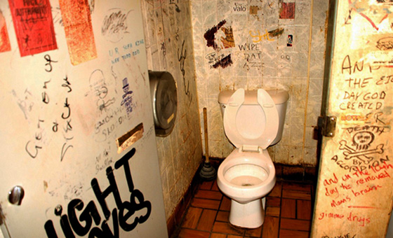 Bathroom Stall En Espaубol reductress » 5 must-know moves for any broken-lock bathroom stall