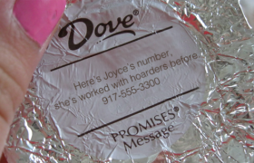 Dove Expresses Concern for Customers Through Chocolate Wrappers