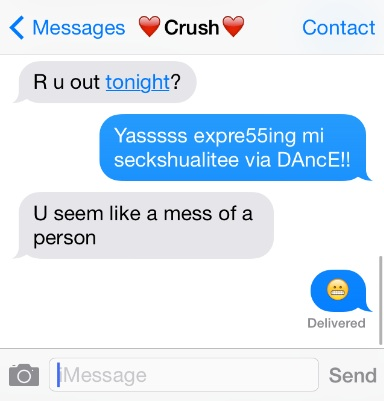 Reductress » How To Text Your Crush So He Thinks You're Out