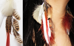 Feathered Earring - Reductress