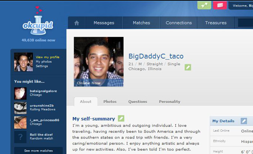 from Callan worst dating profile okcupid
