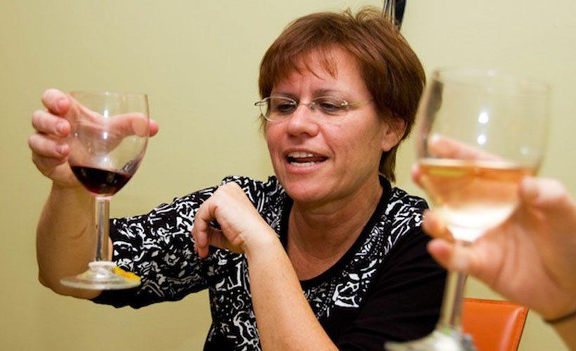 wine woman drunk