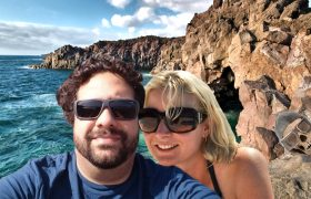 Newlyweds' Honeymoon Selfie Photobombed By The Bones of Amelia Earhart