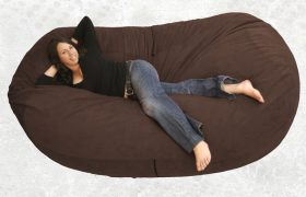Woman 'Sending Good Thoughts' From Bean Bag Chair