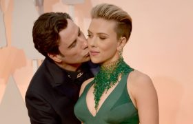 John Travolta Still At Dolby Theatre Kissing Things