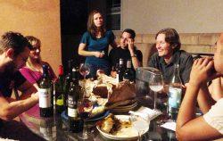 wine photo friends dinner
