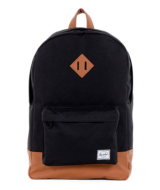 Herschel-Supply-Heritage-Black-&-Tan-21L-Backpack-_181855