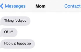 How to Decipher Mom's Texts After One Cosmo