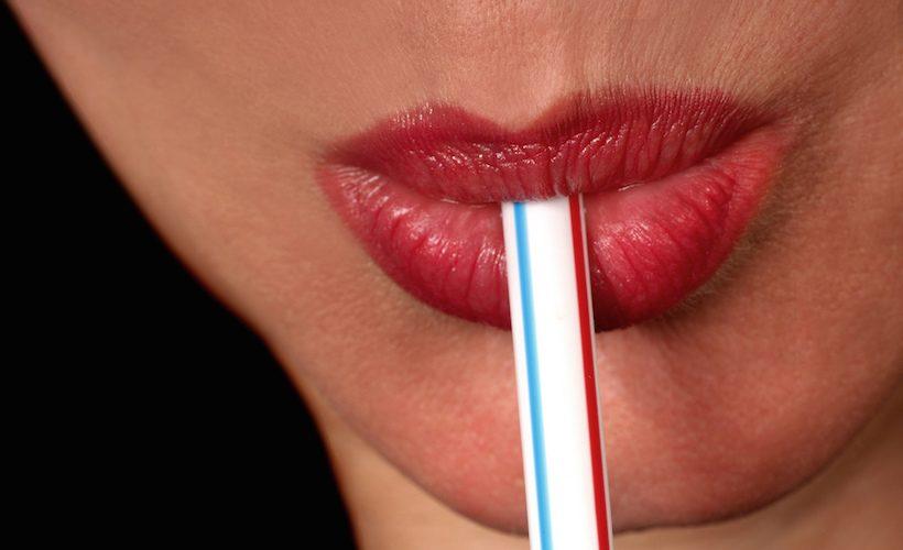 woman drinking lips lipstick