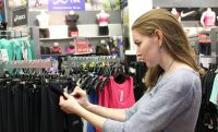 Woman shopping athletic wear