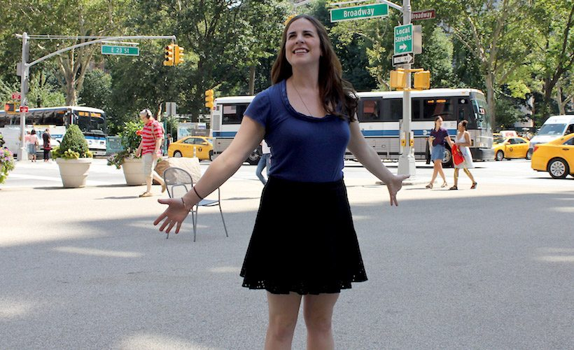 Woman New York Hopeful Happy