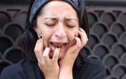 Sad woman crying
