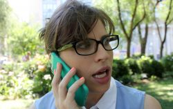 Woman phone news suprised