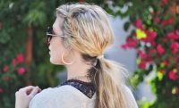 Messy_side_fishtails_in_low_ponytail
