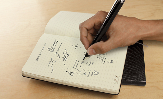 1 moleskin notebook
