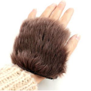 4. faux hair gloves