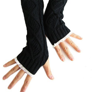 5. knitted long fingerless