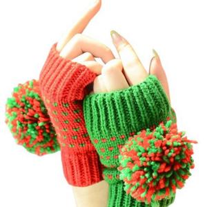 8. pompon gloves