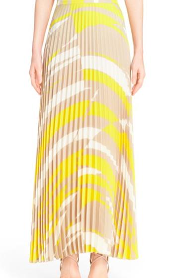 'Uccio' Plissé Maxi Skirt (Max Mara)