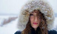 woman cold winter snow