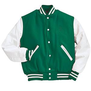 letterman jacket green