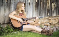 guitar woman cowboy boots country