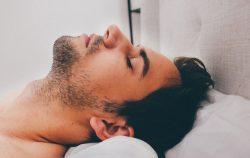 man sleeping beard
