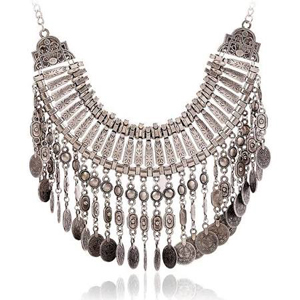 Fashion Retro Hyperbolic Multi Layer Statement Necklace