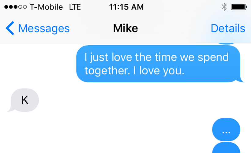 reductress 5 heartfelt texts that mike will respond to with k