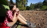 camping-woman