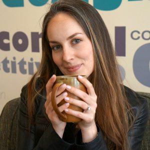 woman mug coffee