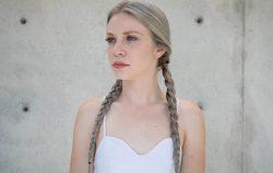 woman pigtails