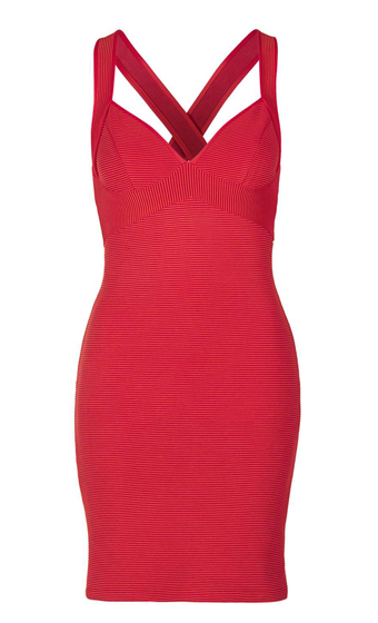 Plunge Ribbed Body Con - TopShop