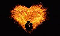Soulmates love fire heart