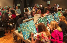 Paint-and-Sip Class Finally Gets Rid of All That Tedious Painting