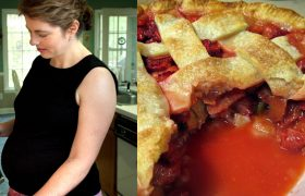 Woman Eats Entire Pie Just By Evening Out The Edges