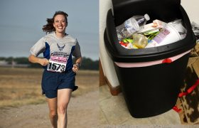 Woman Trains For Marathon While Trash Remains Too Exhausting To Take Out