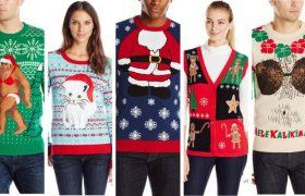 Ugly Christmas Sweaters That Say, 'I Can't See Where Irony Ends and Capitalism Begins'