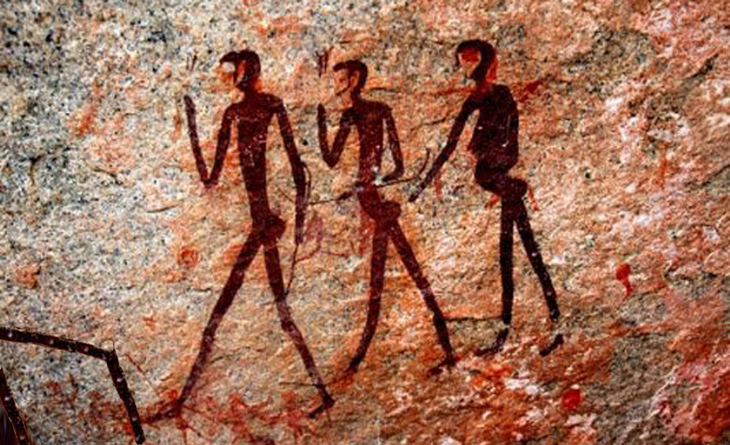 Man Digs Cave Art : Reductress cave painting shows woman moving pile of