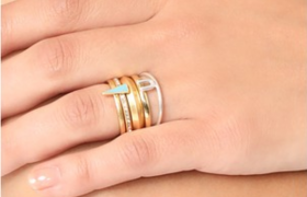 4 Stackable Rings Because We Guess One Just Isn't Enough For Your Greedy Little Fingers