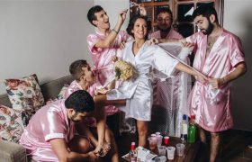 Wow! This Bride's All-Male Bridal Party Makes Her Seem Like A Total Bitch