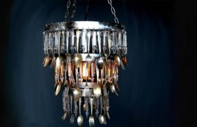 How To Make A Cute DIY Fork Chandelier That Would Be Terrifying If It Came Crashing Down