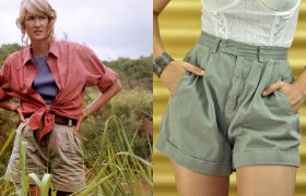 High-Waisted Cargo Shorts That Say, 'There's a Dinosaur Behind Me Isn't There?'