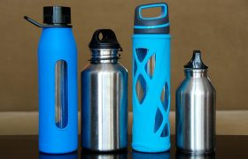 6 Stainless Steel Water Bottles to Go Cling Clang Cling Clang in Your Purse